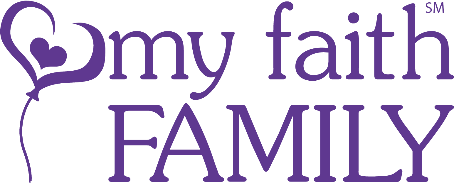 My Faith Family Logo No Tag Purpleheart Cutout