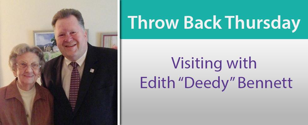 "Visiting with Edith ""Deedy"" Bennett"