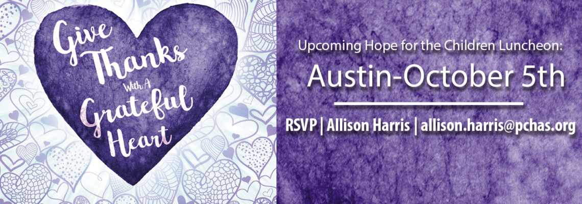 Upcoming PCHAS Austin Luncheon!