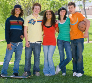Image of teenage group representing Presbyterian Children's Homes and Services of Missouri licensed children's services