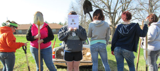 Rotary Unites for Campus Beautification Day at Ashley House