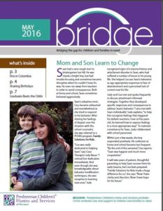 Bridge newsletter, May 2016 cover